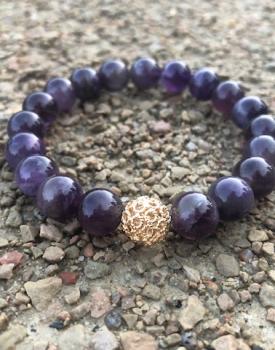 """Stone bracelet """"Amethyst"""""""